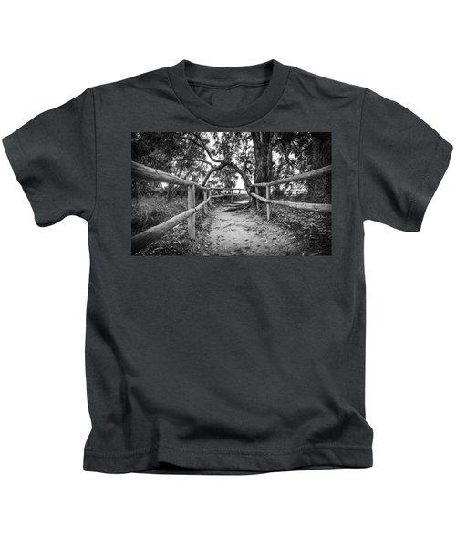Fenced Pathway. Kids T-Shirt