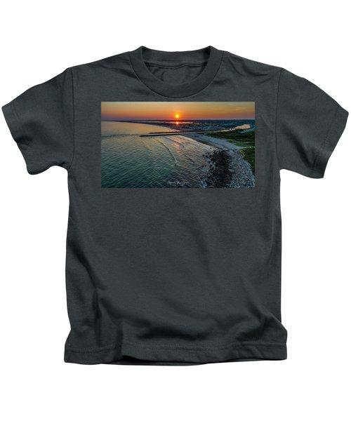 Fenway Beach Sunset Kids T-Shirt
