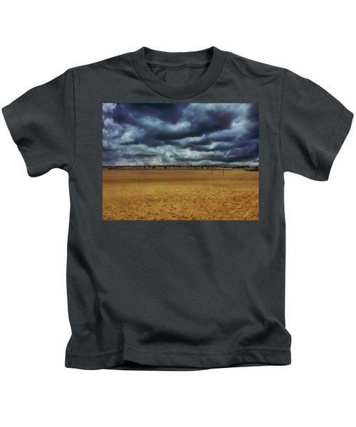 Kids T-Shirt featuring the photograph Fenwick Dunes by Chris Montcalmo