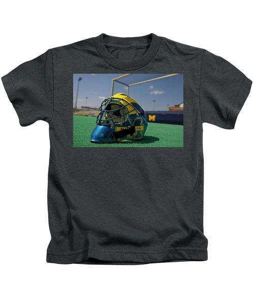 Field Hockey Helmet Kids T-Shirt