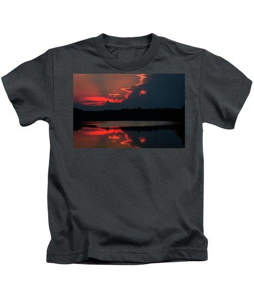 Fiery Evening Kids T-Shirt