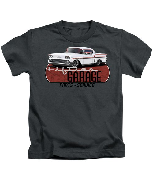 Fifties Hot Rod Garage Kids T-Shirt