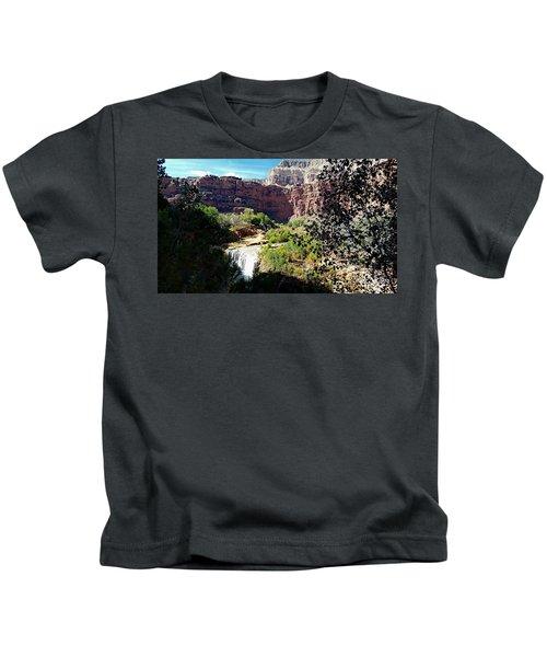 Fifty Falls And Havasupai Falls Havasupai Indian Reservation Kids T-Shirt