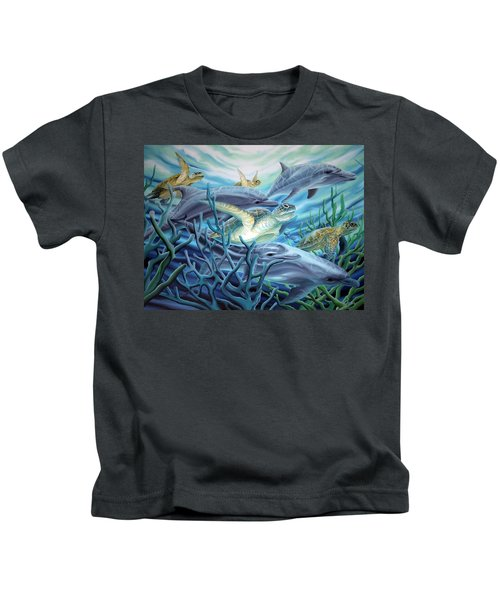Fins And Flippers Kids T-Shirt
