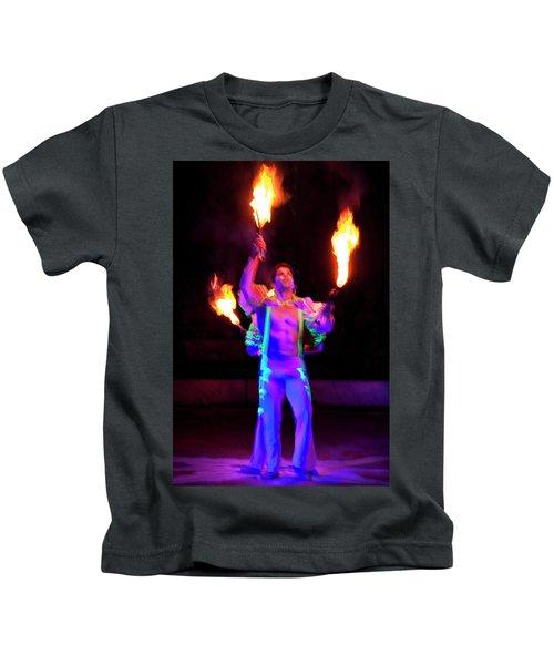 Fire Juggler Kids T-Shirt
