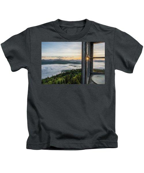 Fire Tower Sunburst Kids T-Shirt
