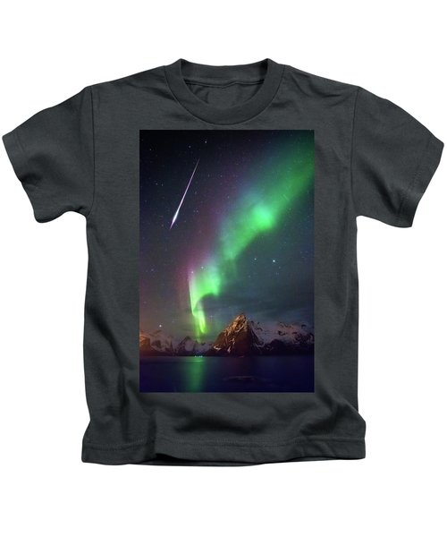 Fireball In The Aurora Kids T-Shirt