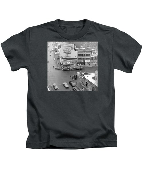 Firetruck Heads Down Hennepin Kids T-Shirt