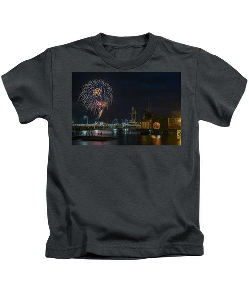Fireworks And 17th Street Docks Kids T-Shirt