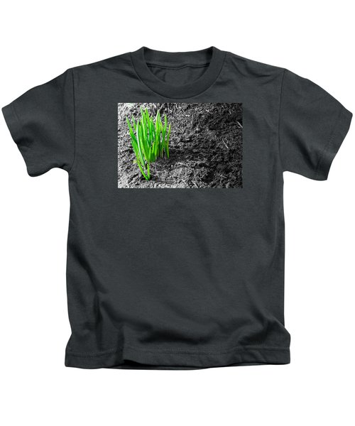 First Green Shoots Of Spring And Dirt Kids T-Shirt