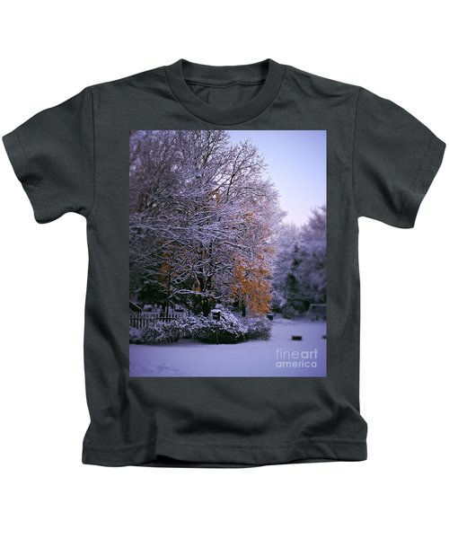 First Snow After Autumn Kids T-Shirt