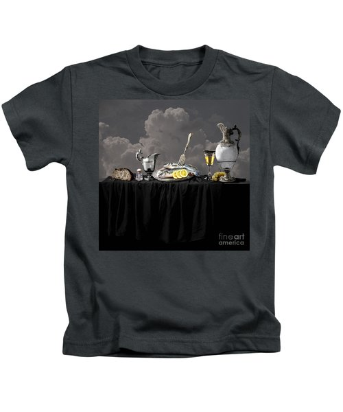Fish Diner In Silver Kids T-Shirt