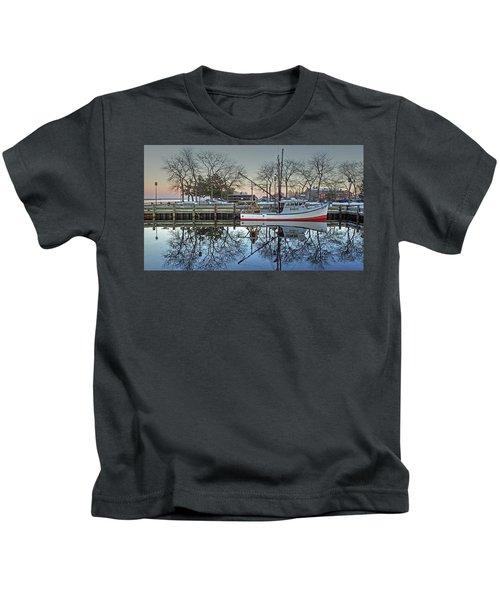 Fishing Boat At Newburyport Kids T-Shirt