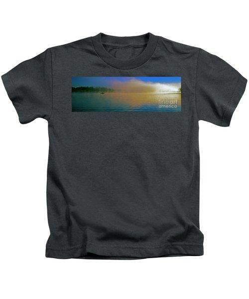Fishing Boat Day Break  Kids T-Shirt