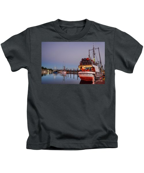 Fishing Boats Waking Up For The Day Kids T-Shirt