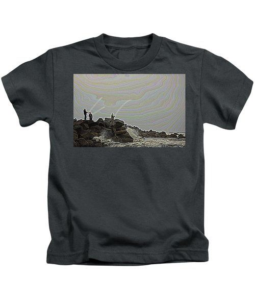Fishing In The Twilight Zone Kids T-Shirt
