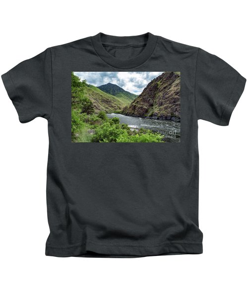 Fishing The Snake Waterscape Art By Kaylyn Franks Kids T-Shirt