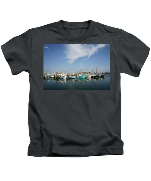Fishing Vessels At Galilee Rhode Island Kids T-Shirt