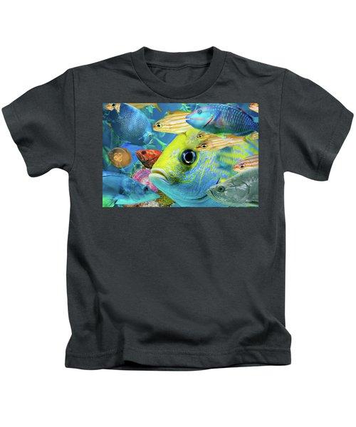 Fishy Collage 02 Kids T-Shirt