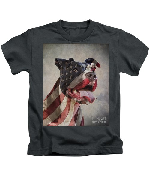 Flag Dog Kids T-Shirt