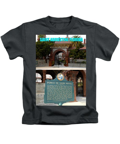 Flagler College And The Ponce De Leon Hotel Kids T-Shirt