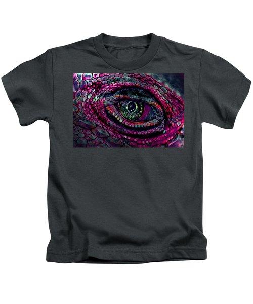 Flaming Dragons Eye Kids T-Shirt