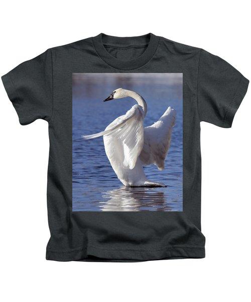 Flapping Swan Kids T-Shirt