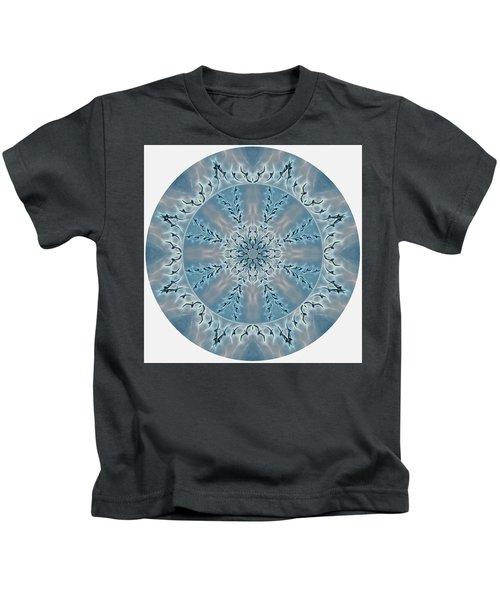 Flight Of The Tundra Swan Mandala Kids T-Shirt