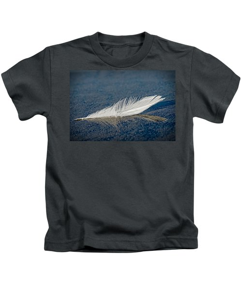 Floating Feather Reflection Kids T-Shirt