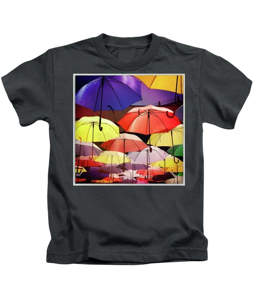 Floating Umbrellas Kids T-Shirt