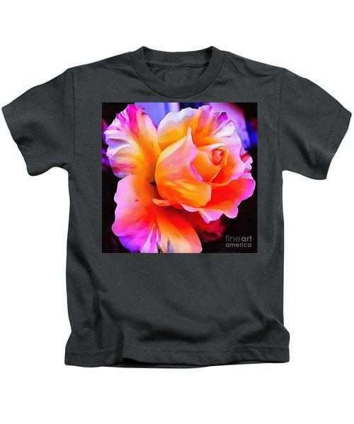 Floral Interior Design Thick Paint Kids T-Shirt