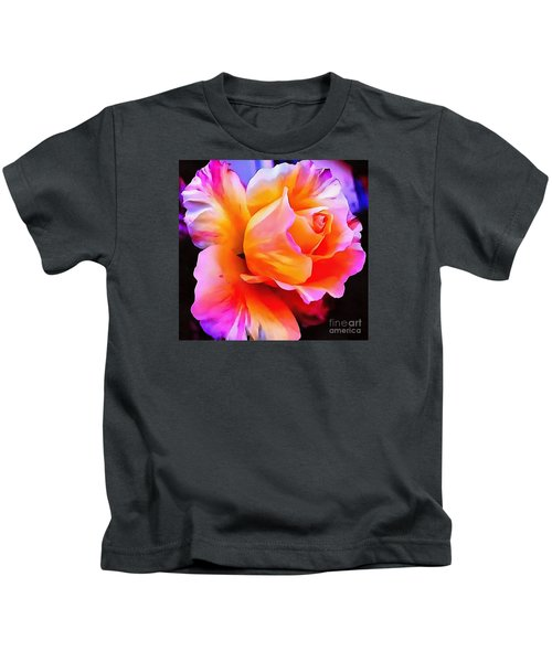 Floral Interior Design Thick Paint Kids T-Shirt