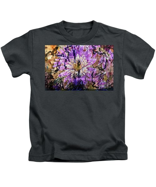 Floral Poetry Of Time Kids T-Shirt