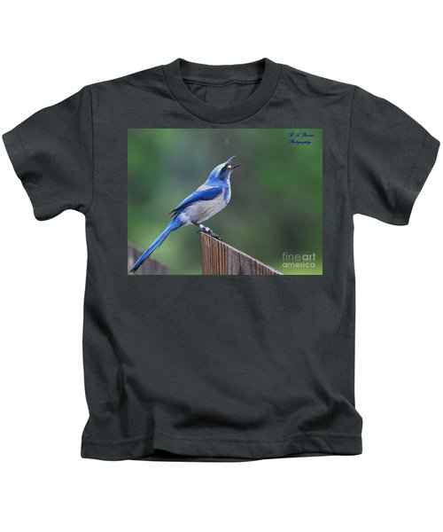 Florida Scrub Jay Eating Kids T-Shirt