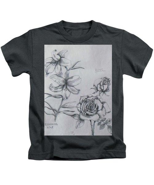 Flower Study 1 Kids T-Shirt