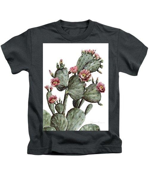 Flowering Prickly Pear Cactus Kids T-Shirt