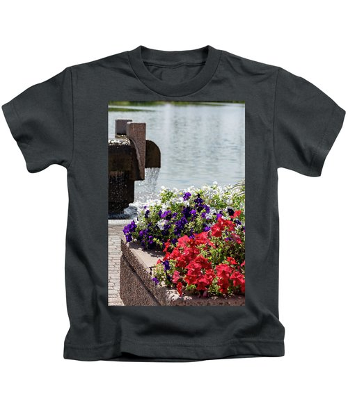 Flowers And Water Kids T-Shirt