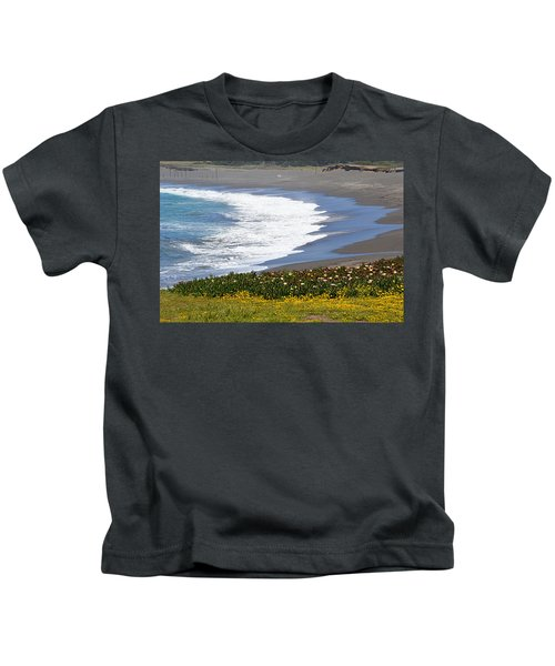 Flowers By The Sea Kids T-Shirt