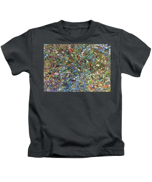 Flowers In A Blue Vase Kids T-Shirt