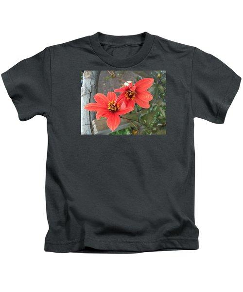 Flowers In Love Kids T-Shirt