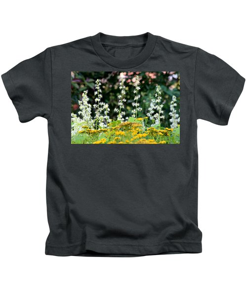 Flowers Sparkling Above The Tansies Kids T-Shirt