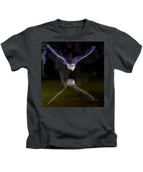 Flying Bat With Reflection Kids T-Shirt