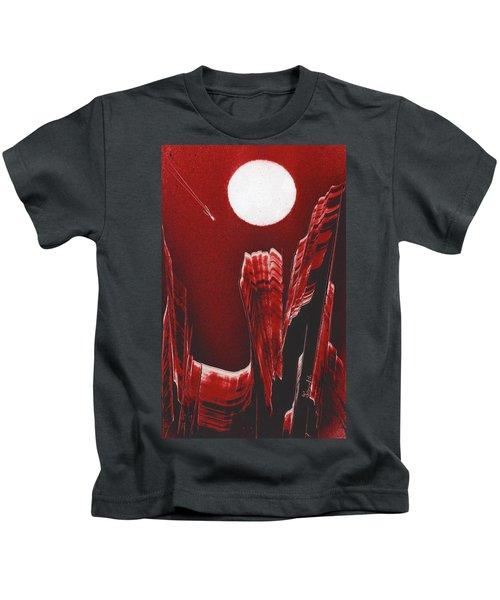 Flying Over Fuchsia Kids T-Shirt