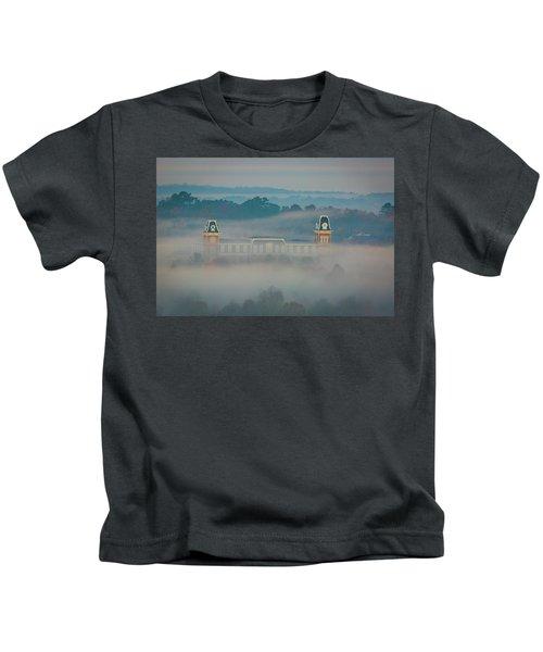 Fog At Old Main Kids T-Shirt