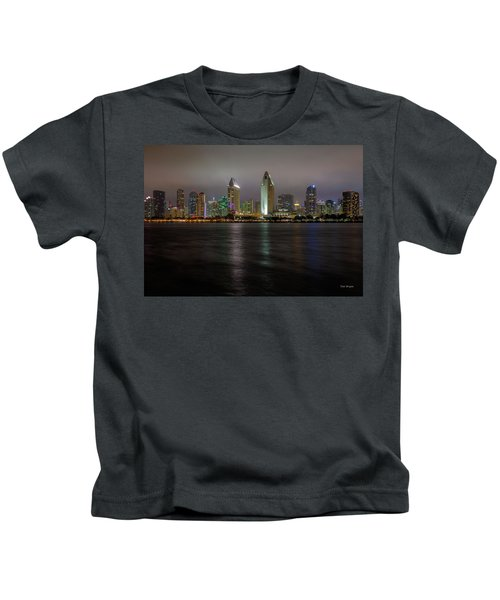 Fog Glow Over San Diego Kids T-Shirt
