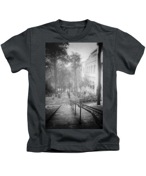 Fog In Montmartre Kids T-Shirt