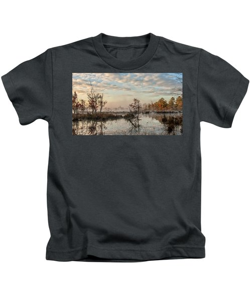 Foggy Morning In The Pines Kids T-Shirt
