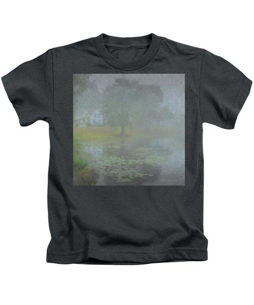 Foggy Morning On Pond Street Kids T-Shirt