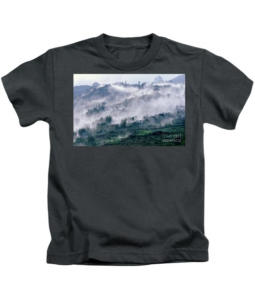 Foggy Mountain Of Sa Pa In Vietnam Kids T-Shirt