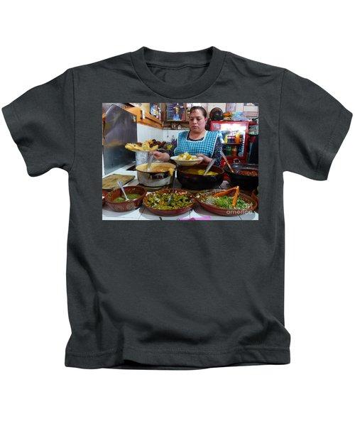 Food Court In Paracho Kids T-Shirt